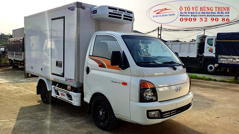 xe đông lạnh 1 tấn hyundai porter 150