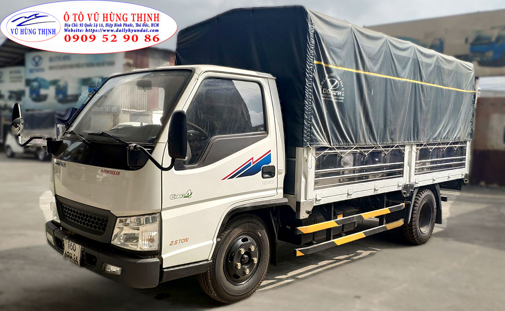 giá xe tải iz49 thùng bạt 2t4