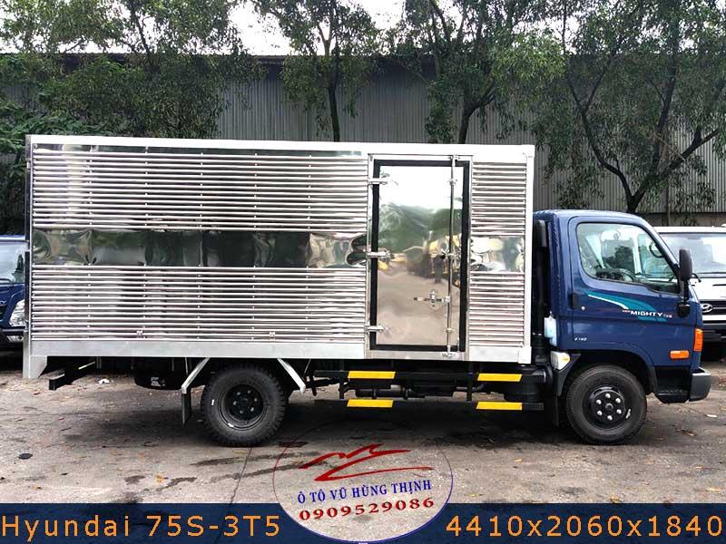 xe tải hyundai 3t4 thùng kín