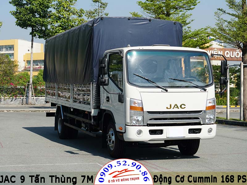 jac 9 tấn thùng bạt tiêu chuẩn