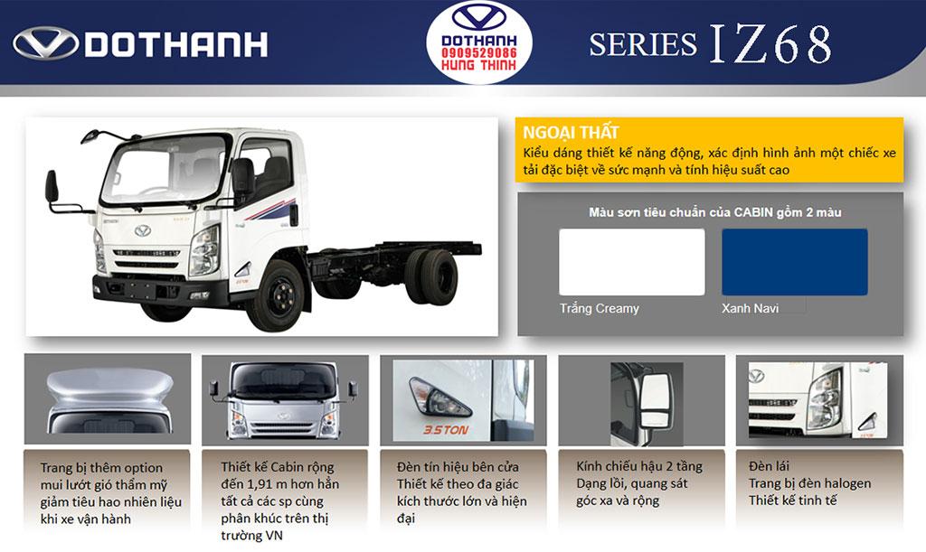 thiết kế ngoại thất xe tải 3.5 tấn iz68s