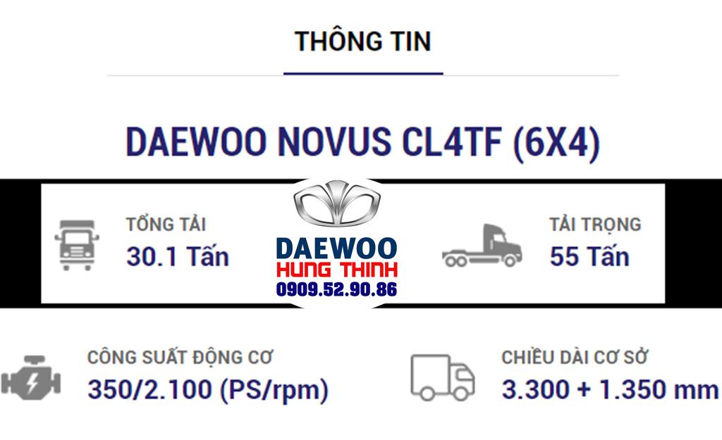 thông số chi tiết xe đầu kéo daewoo cl4tf