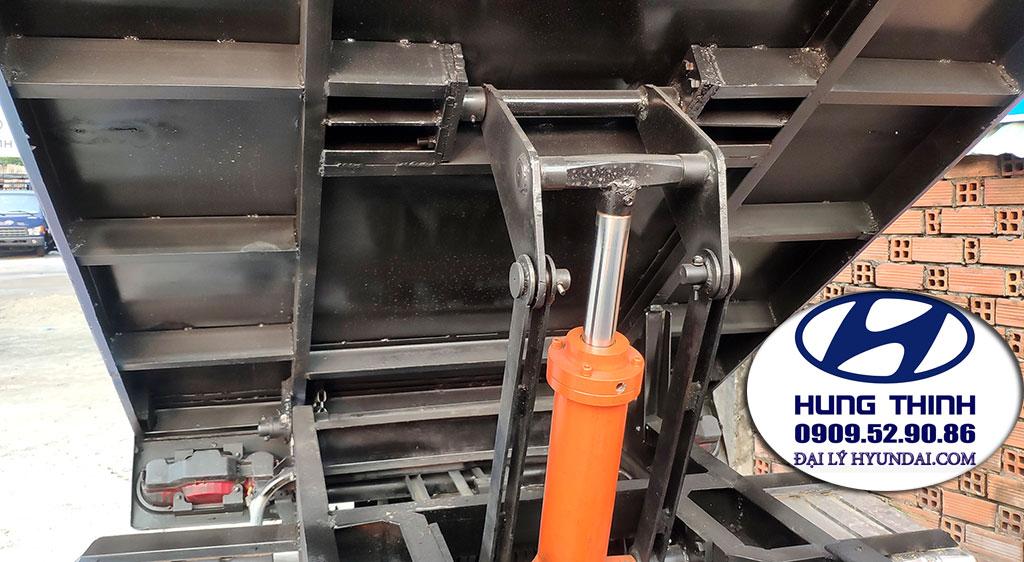 kết cấu thùng ben xe h150