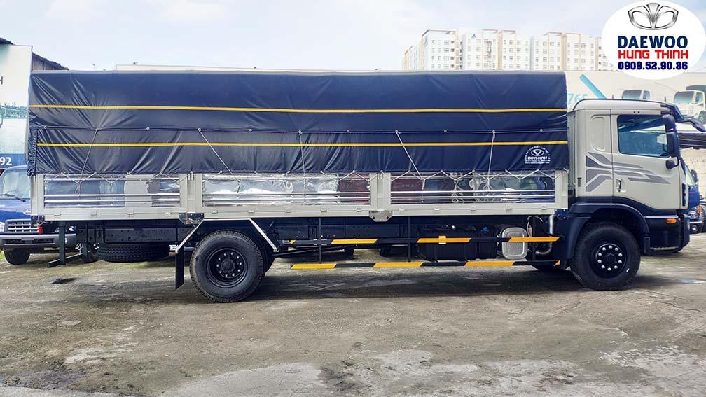 xe tải daewoo 9 tấn thùng bạt 7 bửng