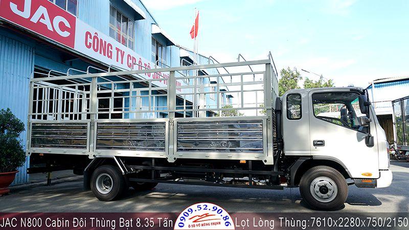xe tải jac n800 thùng bạt